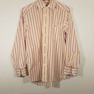 Lacoste Striped Button Down Shirt Size 40
